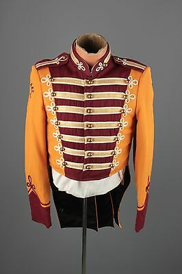 Vtg 60s Marching Band Sgt Peppers Uniform Jacket sz S 36 Brass Buttons #3395
