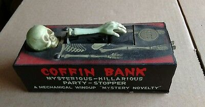 Vintage 1960s Yone Coffin Bank made in Japan, needs a little work