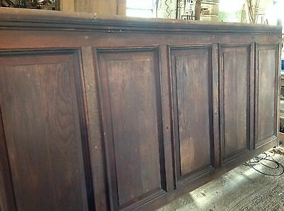 Antique Teak Wall Panelling
