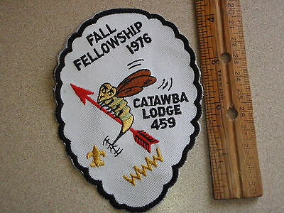 Boy Scout  Order Of The Arrow Patch Fall Fellowship 1976 Catawba Lodge    Bxl22
