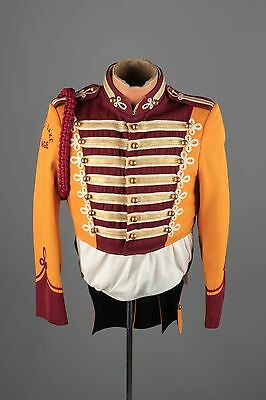 Vtg 60s Marching Band Sgt Peppers Uniform Jacket sz S 36 Brass Buttons #3397