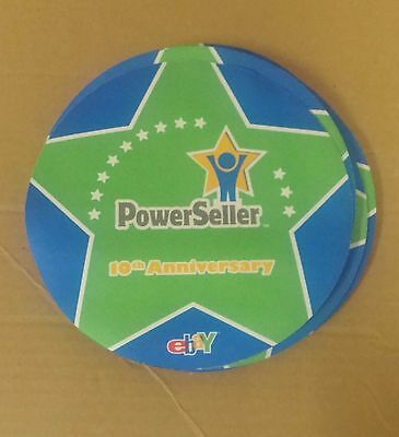 eBay 10th Anniversary POWERSELLER Mouse Pad (old logo) New RARE COLLECTIBLE