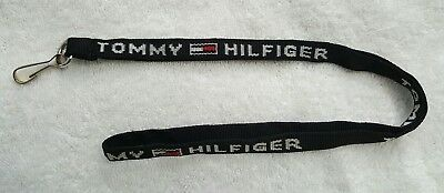 Vintage Tommy Hilfiger Spell Out Lanyard Keychain ID Badge Holder
