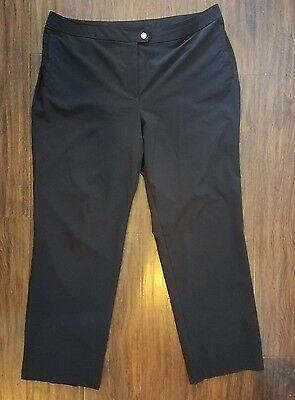 ZENERGY By CHICO'S Black Flat Front Casual Pants Sz 3-RG (16) ***MINT***