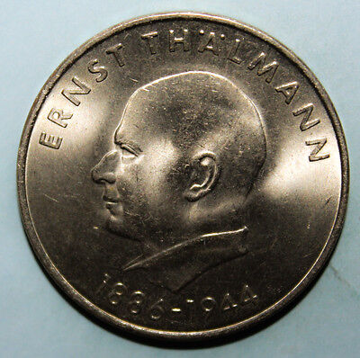 East Germany 20 Mark 1971-A Choice Uncirculated Coin - Ernst Thalmann