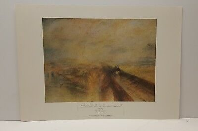 Th Great Western Railway Joseph Turner Steam Engine Vintage Lithograph Art Print