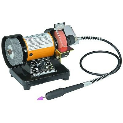 "3"" Mini Bench Grinder With Rotary Flexible Shaft Die Carving Free US Shipping"