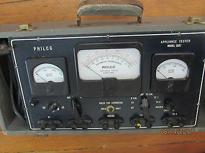 Vintage PHILCO Appliance Tester Model #: 5007