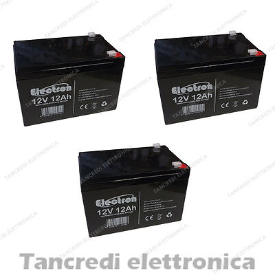 KIT BATTERIE 36V 12Ah GEL/AGM CICLICHE DEEP-CYCLE BICI ELETTRICA - 6 DZM 10-14