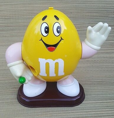 "Collectible M&m ""yellow"" Candy Dispenser Made For Mars Inc. - Era 1991-10"" Tall"