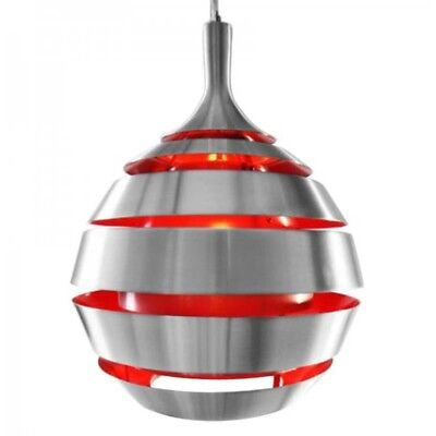 Paris Prix - Lampe Suspension Ball Rouge
