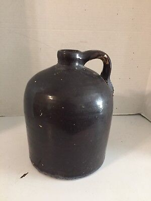 Antique Brown Whiskey Jug 9 1/2 Inches Tall