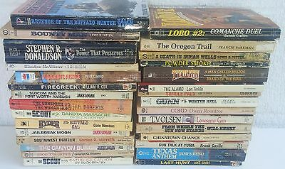Lot of 30 Vintage Paperback 60s 70s Western Novels Books