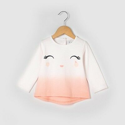 La Redoute Baby Girls Top Long Sleeve T-shirt  age 18 Months  NBW #J21