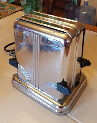 Westinghouse Antique Turnover Toaster 1930s Art Deco Stainless Works TE-4