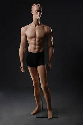 Realistic Male Mannequin, Includes Steel Base & Rods, Made of Fiberglass (gm9)