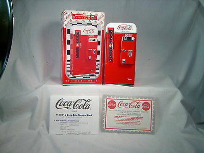 """COCA-COLA MUSICAL BANK, 1994, """"IT'S THE REAL THING"""", 7"""" high' diecast, by ENESCO"""