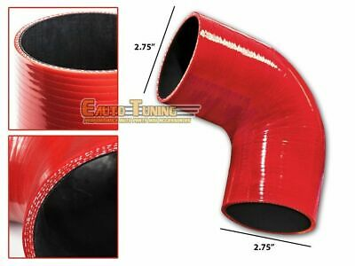 "2.75"" Silicone Hose/Intercooler Pipe Elbow Coupler RED For Jeep/Land Rover"