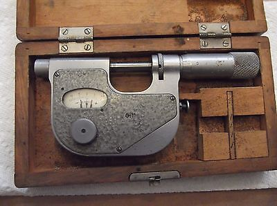 """Fowler precision indicating inspection micrometer. 0-1"""""""