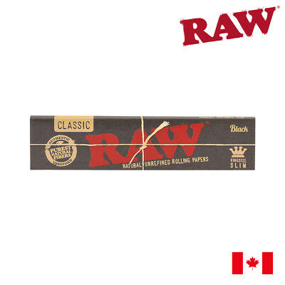 RAW Classic Black King Size Slim Rolling Papers (32 Sheets)