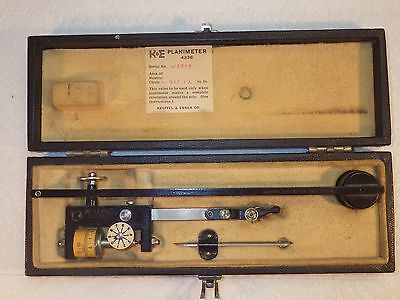 Vintage K&e Keuffel & Esser Co. Compensating Polarplanimeter #4236 Exc Condition