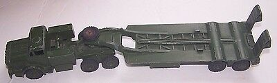 Vintage British Dinky Supertoys Tank Transporter #660 & Driver Figure Military