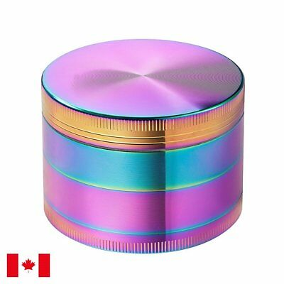 "Rainbow Zinc Alloy 4 Layers 63mm/2.5"" Tobacco Herb Grinder w/ Scraper"