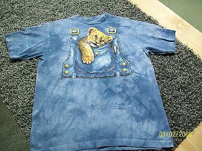 THE MOUNTAIN Youth Blue Baby Leopard Graphic Tee/T Shirt XL/X Large