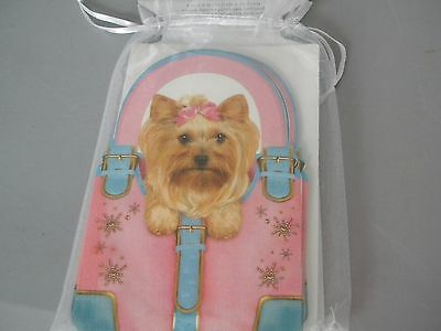 8 Blank Note Cards  Yorkie Yorkshire Terrier Dog