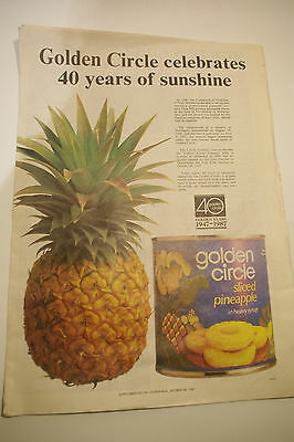 Vintage Courier Mail Newspaper Golden Circle Cannery 40 Year Celebration Liftout
