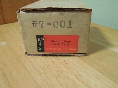 "Reuge  Swiss Musical Movement  #7-001  Dr. Zhivago ""lara's Theme""  Unused"