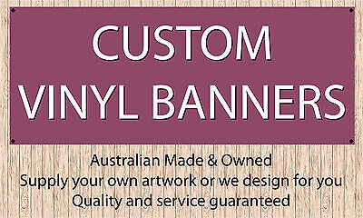 Banners custom printed 2000 x 500mm Indoor/Outdoor STITCHED with eyelets