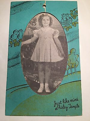 Shirley Temple Original Cinderella Coach Frock clothing Tag With Frame