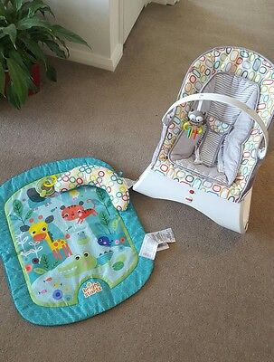 Fisher price baby bouncer and Bright stars play mat