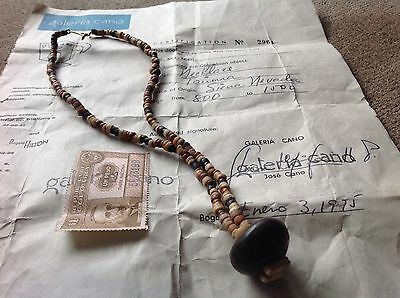 ANTIQUE TAIRONA NECKLACE- AGE: FROM 800 to 1500 with Certificacion papers .