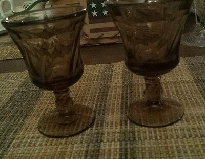 Fostoria Jamestown Amber wine glass