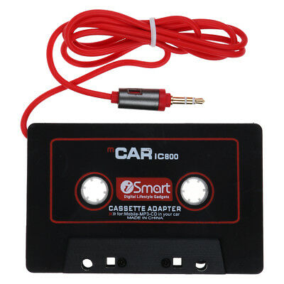 AUX AUTO Kassette Adapter TAPE AUDIO für RADIO MP3 iPhone iPod SAMSUNG 3.5MM DVD