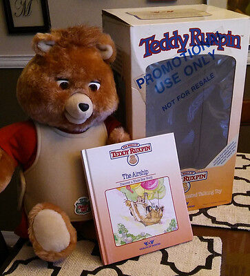RARE Original 1985 Teddy Ruxpin Promotional Only one on ebay Canada Dry Vintage