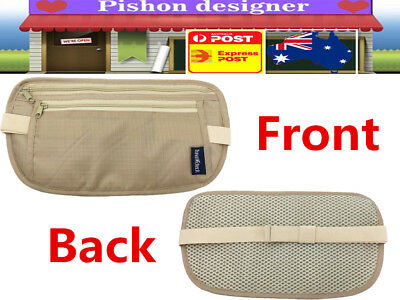 Travel Waist Pouch Passport Security Money Belt Secure Ticket Card Wallet Bag