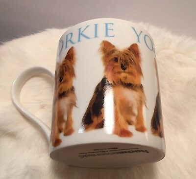YORKIE COFFEE MUG Yorkshire Terrier Dog Coffee Cup Bright Graphics Repeats Puppy