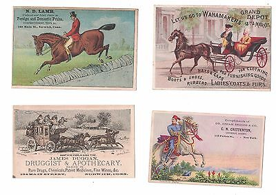 Lot of 10 Horse themed Victorian Trade Cards