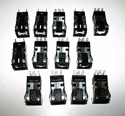 Lot of (14) Honeywell  Push Button Switches - AML21CBA2AD Aircraft 28V L173