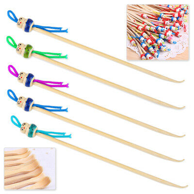 5 PCS Cute Soft Bamboo Doll Ear Pick Spoon Earpick Earwax Remover Cleaner Tool