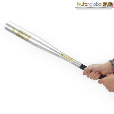"25"" 25Inch Aluminium Anti-Skid Baseball Bat Alloy Standard Handle Silver NEW OZ"