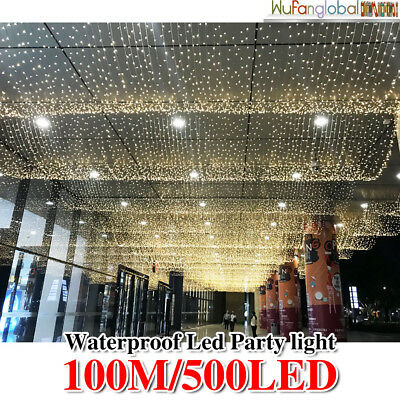 SAA 500LED 100M Fairy Christmas String Lights Warm White Wedding Party Garden