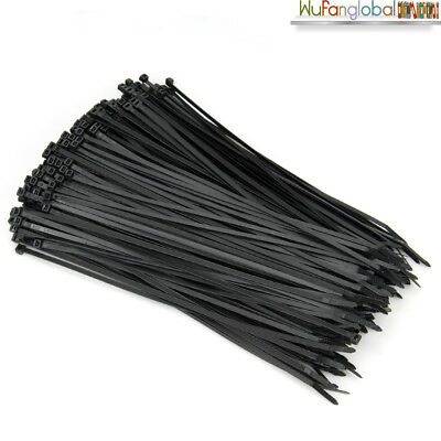 250/500/1000PC Bulk Cable Ties Zip Ties Nylon UV Stabilised 4.8mm x 300mm Black