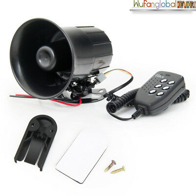 12V Air Siren Horn Auto Car Truck Warning Megaphone 6 Sounds Loud MIC Speaker AU