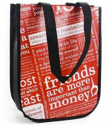 Lululemon Manifesto Reusable Red Black White Small Eco Lunch Tote Bag