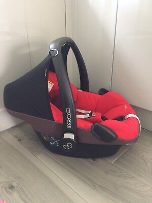 Maxi Cosi Pebble Car Seat In Red