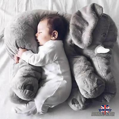 Children Kids Large Size Elephant Doll Soft Plush Stuff Toys Lumbar Pillow New